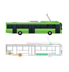 Scheme of the electric bus vector