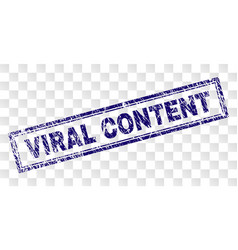 Scratched viral content rectangle stamp vector