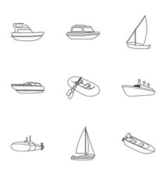 sea transport boats ships to transport people vector image