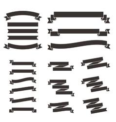 set flat vintage ribbons vector image