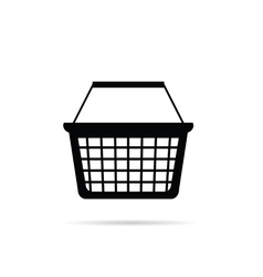 Shopping basket in black vector
