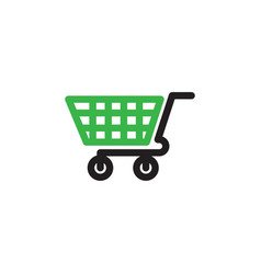shopping cart graphic design template isolated vector image