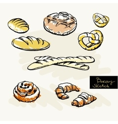 Sketch of bakery vector image