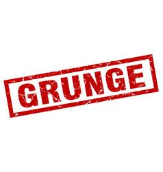 Square grunge red grunge stamp vector