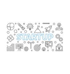 startup horizontal start-up vector image