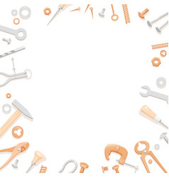 tools lying in circle out of frame vector image