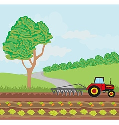 Tractors and agricultural affairs vector