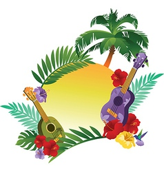 Tropical Abstract Banner vector image
