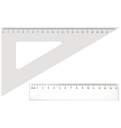two transparent rulers vector image
