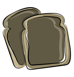 weird bread on white background vector image