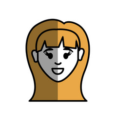 woman head and face with hairstyle vector image