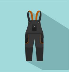 work pants icon flat style vector image