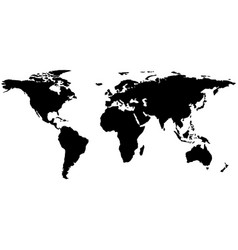 world map earth atlas silhouette abstract vector image