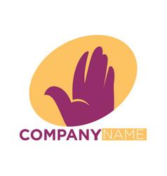 dove bird symbol of helping hand icon vector image vector image