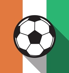 football icon with Ivory Coast flag vector image vector image