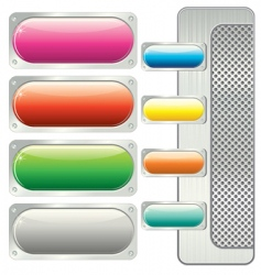 panel buttons vector image vector image