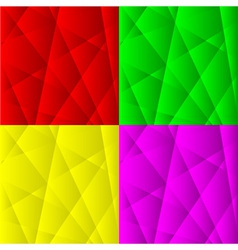 Set of Abstract Geometric Backgrounds vector image vector image