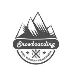 Vintage mountain explorer labels vector image vector image
