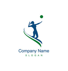 volleyball woman player logo vector image