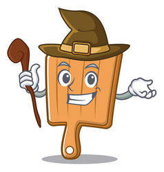 witch kitchen board character cartoon vector image vector image