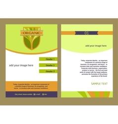 Brochure Flyer design template in A4 size Logo vector image vector image