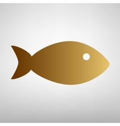 Fish sign Flat style icon vector image