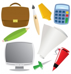 office object set vector image