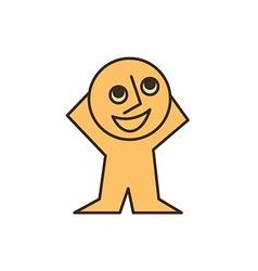 smiling yellow man vector image vector image