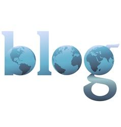 blog world wide web logo vector image vector image