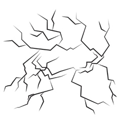 Cracks vector image vector image