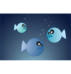 hungry fish vector image
