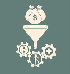 investment in human resources investmenf funnel vector image vector image
