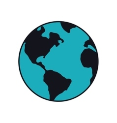 Planet earth blue map icon graphic vector