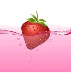 Strawberry drink vector image vector image