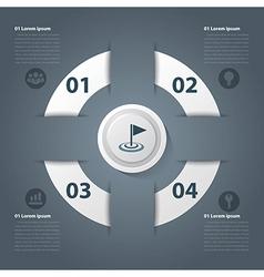 Success business modern circle vector