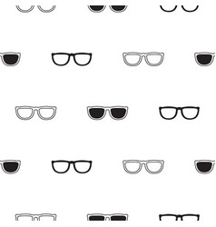 sunglasses retro seamless pattern in black and vector image