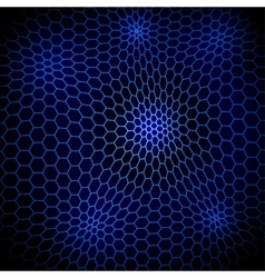 Abstract wavy net with hex cells vector image