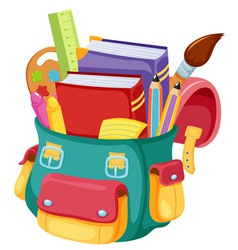 Back to schoolschool bag vector image