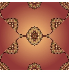Flyer templste seamless design Brown mandala vector image vector image