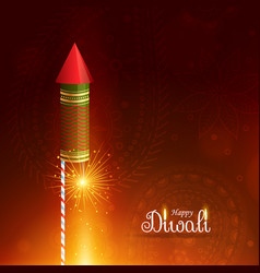 Happy diwali greeting background with flying vector