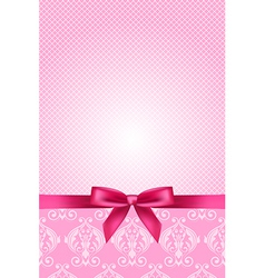 pink wallpaper with bow vector image vector image
