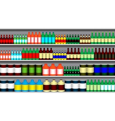 Supermarket shelves vector image