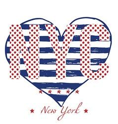 T-shirt typography design NYC printing graphics vector image
