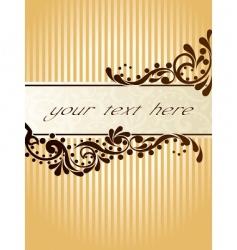 vintage sepia banner vertical vector image