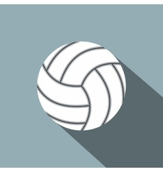 Volleyball ball flat icon vector