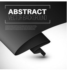 abstract background with folded black paper vector image vector image