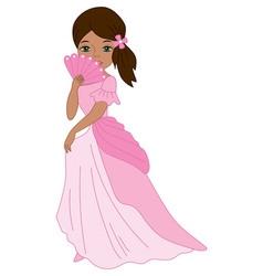 African American Princess vector image
