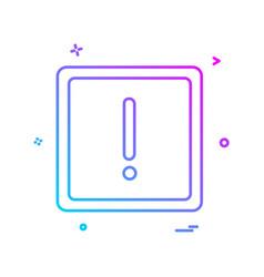 alert icon vector image