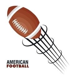 American football league icon vector