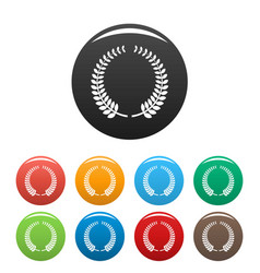 awarding icons set color vector image